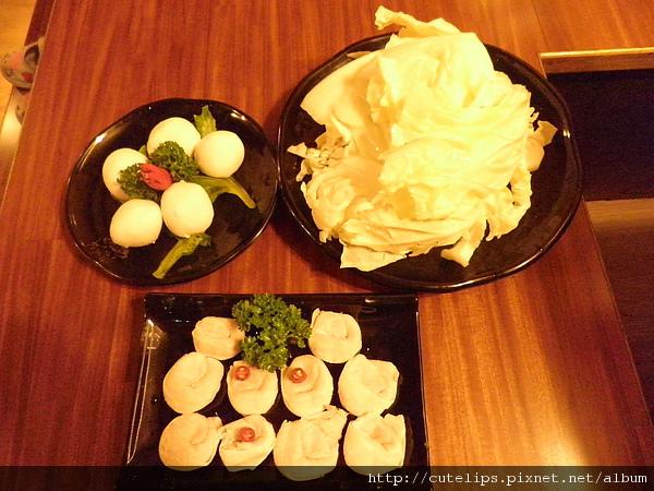 湯圓、大白菜&魚餃