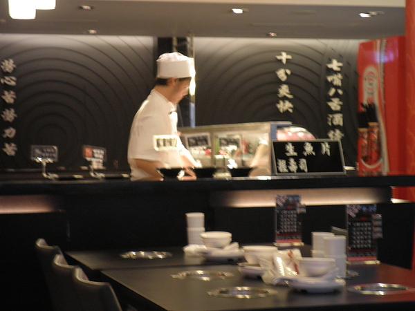 生魚片握壽司區