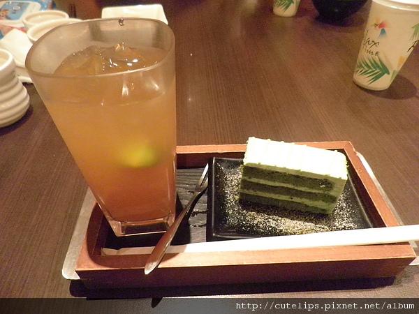 冰水果茶&京都抹茶蛋糕