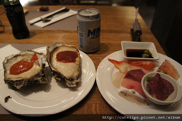 生蠔、生魚片&啤酒991217