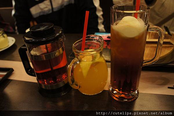 藍莓果茶、冰水果茶&冰淇淋紅茶