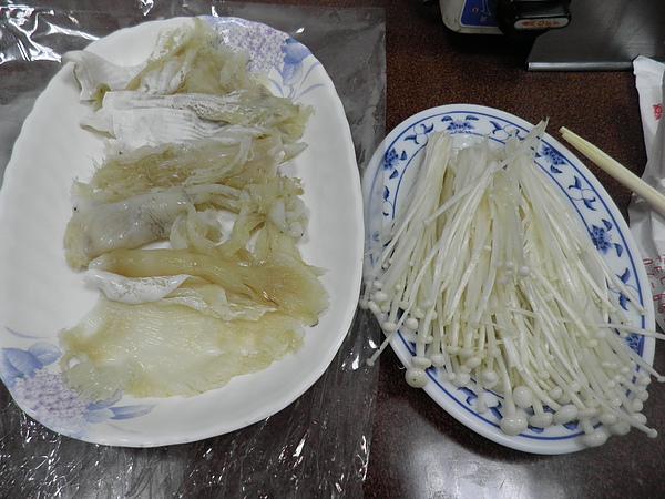 大翅&金針菇