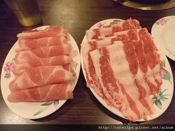 梅花豬肉&雪花牛肉