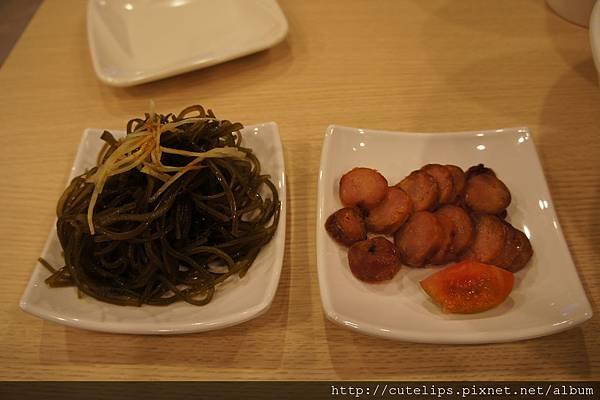 海帶絲&檸蜜油切香腸