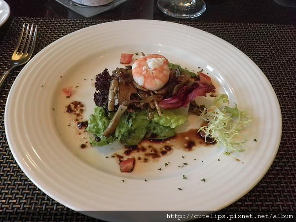 菌菇鮮蝦油醋沙拉