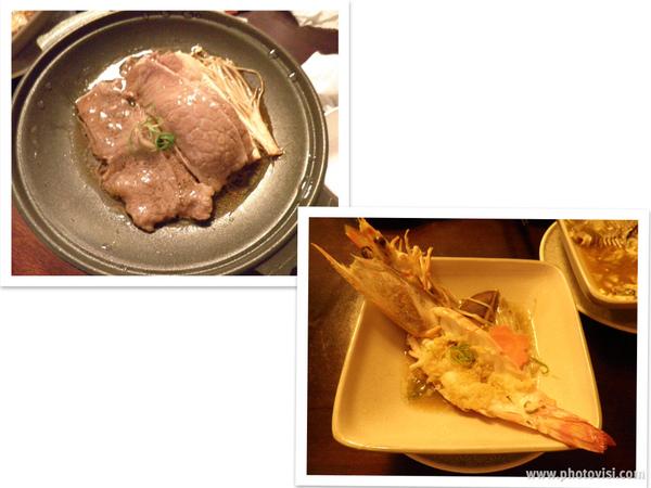 主菜-牛小排陶板燒&大明蝦香蒜蒸