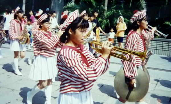 管樂隊在科博館前表演