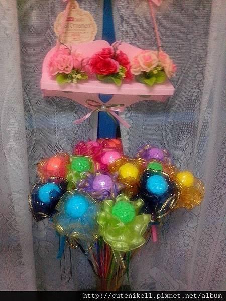 玫瑰花球手工皂金沙花束