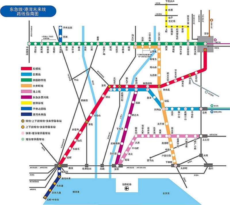 東急路線圖