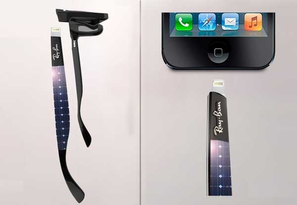 Solar-powered-Ray-Ban-charges-phone