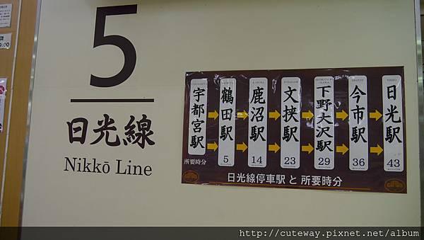 JR日光線(宇都宮車站)