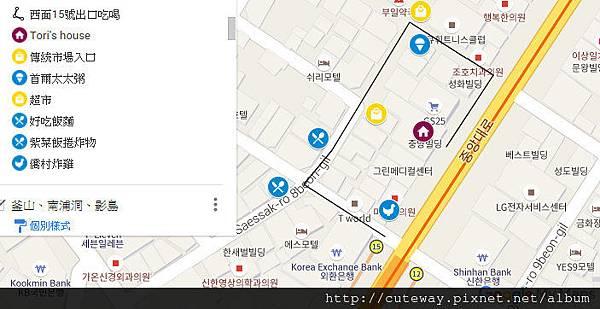 西面15號出口map