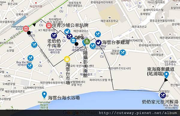 海雲台map