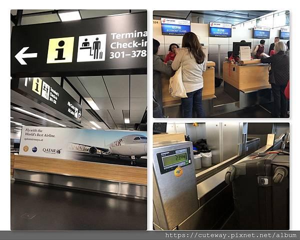 [交通]維也納機場-國航櫃台掛行李