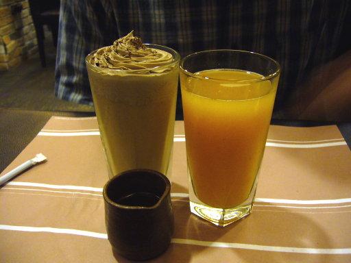 咖哩事典-奶茶&蜜桃蔬果汁