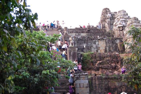 高棉-巴肯山日落