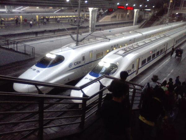 高鐵在北京...