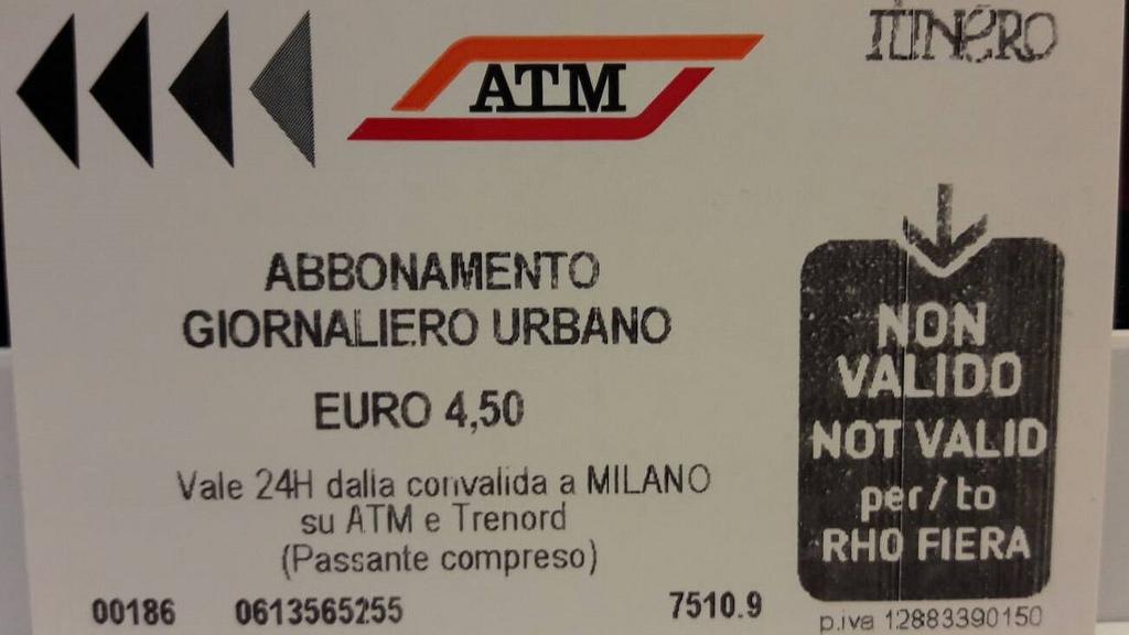 米蘭一日券ATM