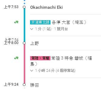 3.新宿→国営ひたち海浜公園2