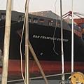 當天看到最大的貨輪