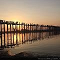 曼德勒-柚木橋-日落