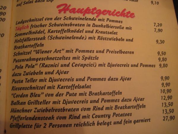 小酒館菜單內頁