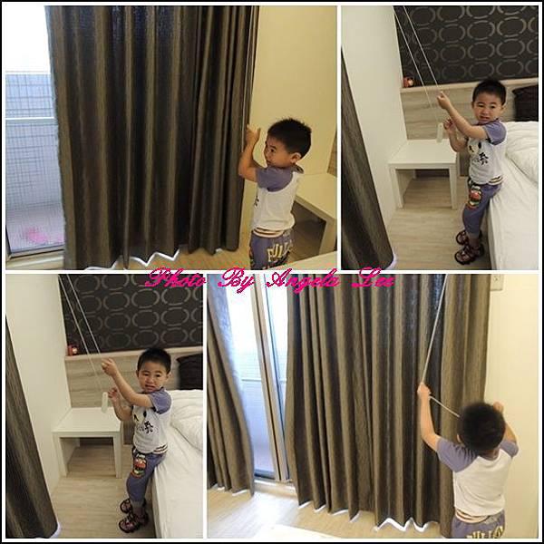 齊齊幫忙開窗簾