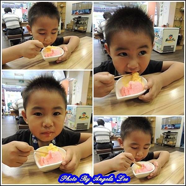 齊齊享用冰淇淋