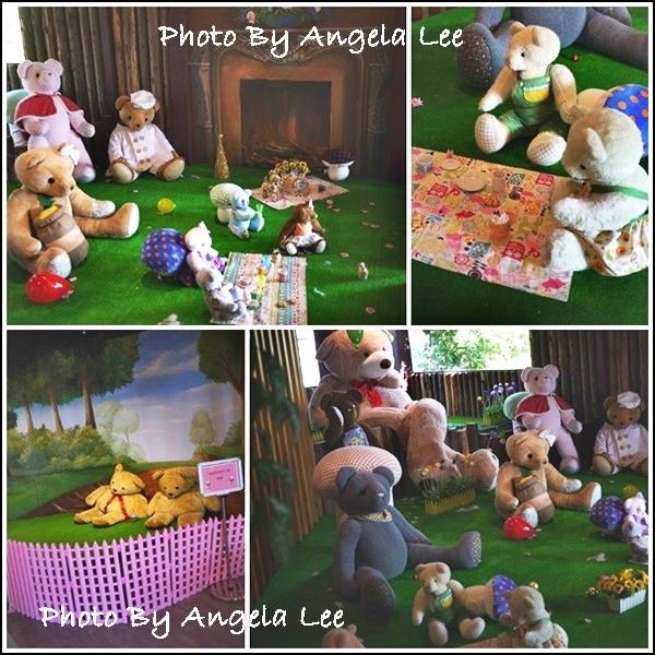 熊熊玩偶與拍照區