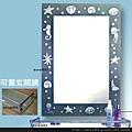 海洋風情鏡化妝鏡㊣臥房玄關鏡衛浴鏡浴室鏡(CW-010).jpg