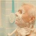 老人家洗澡