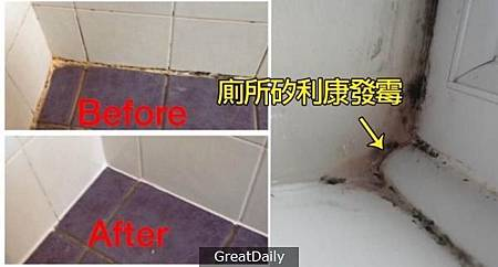 廁所的〔矽利康〕發霉了?只要廚房紙巾沾上...竟然馬上白回來!100%有效又簡單!.jpg