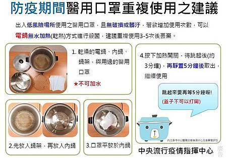 「電鍋乾蒸口罩」食藥署實測有效!成功消毒關鍵看這裡2.jpg