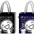彎彎不織布購物袋(L)_120元