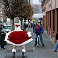 サンタが街にやってきた