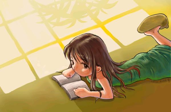閱讀的少女