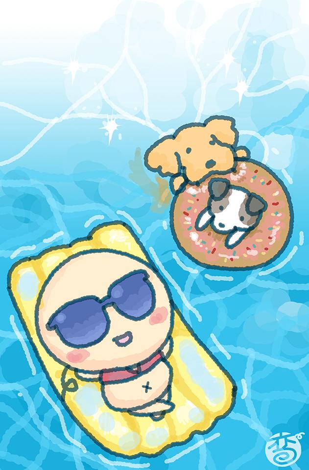 桌布-游泳