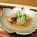 縞鯵(しまあじ)生魚片+蓮藕+山藥泥+白蘿蔔絲