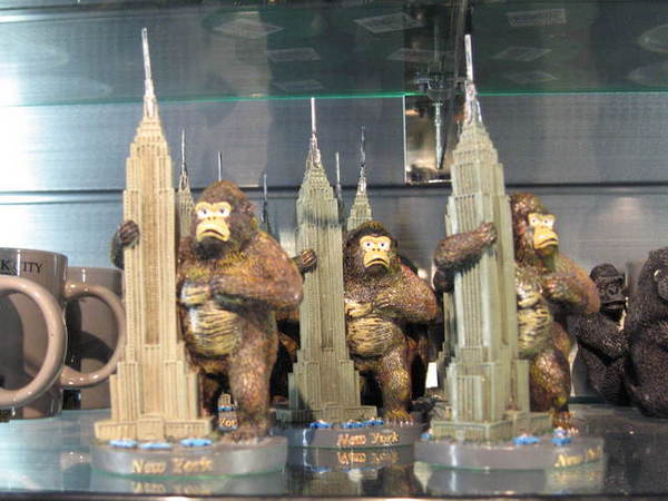 帝國大廈禮品店的週邊商品 - 大金剛擺飾