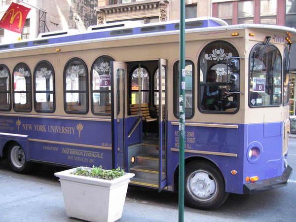 NYU可愛的小型校車