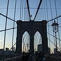 布魯克林橋的傍晚