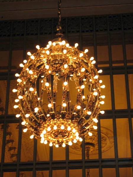 中央車站吊燈特寫