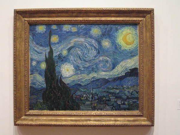 這是全館最熱門的畫作之一,梵谷的星夜