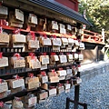 上野公園附近某個小神社的繪馬懸掛亭