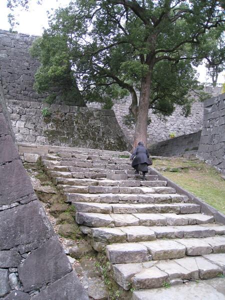 看似很多的石階其實爬起來很輕鬆,歐巴桑比我們勇健