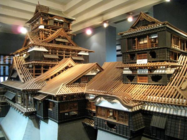 四百年前的熊本城模型