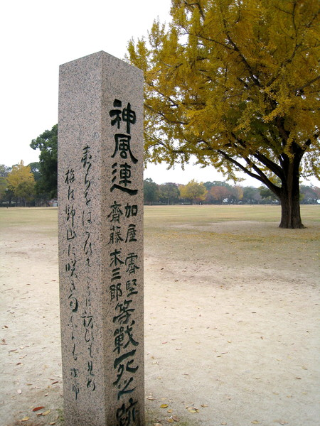 「戰死之跡」的石碑好淒涼......