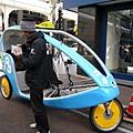 我們的三輪車駕駛很盡職友善,300日圓付得很值得