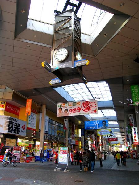 熊本「新市街」和「下通」的交界處