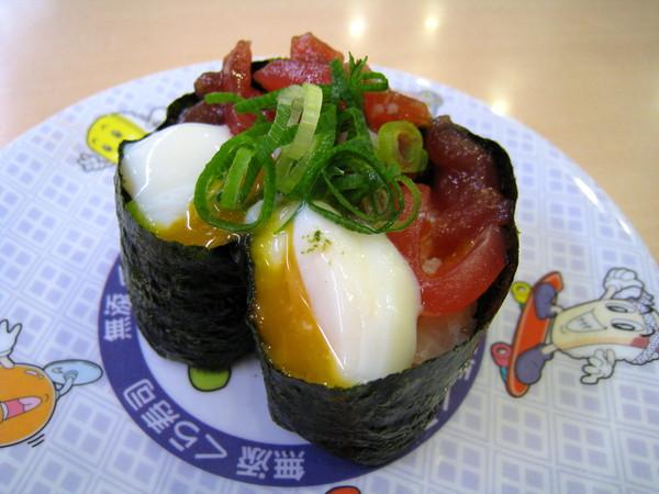 鮪魚+溫泉蛋軍艦卷